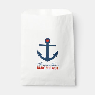 Red and Blue Anchor Favor Bag