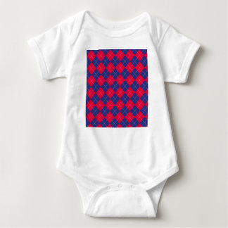 Red and Blue Argyle Baby Bodysuit