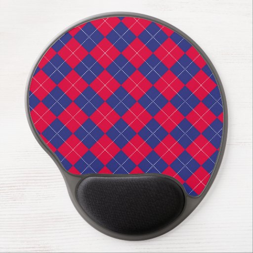 Red and Blue Argyle Gel Mousepad