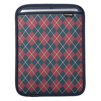 Red and Blue Argyle iPad Sleeve