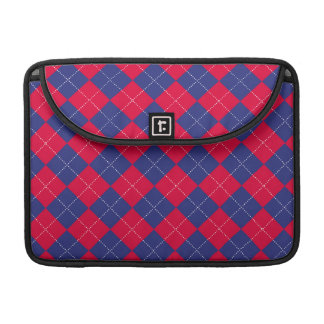 Red and Blue Argyle Sleeves For MacBook Pro