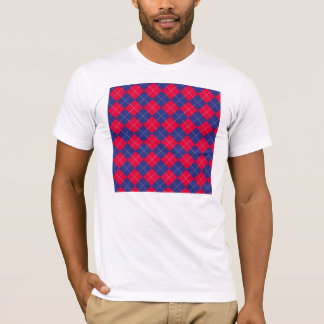 Red and Blue Argyle T-Shirt