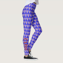 Red and Blue Awareness Ribbon Custom Leggings