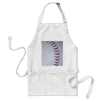 Red and Blue Baseball / Softball Stitches Adult Apron