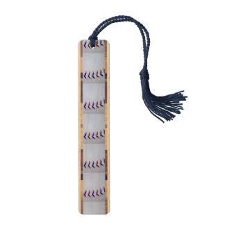 Red and Blue Baseball / Softball Stitches Bookmark