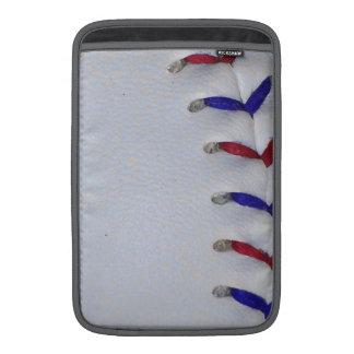 Red and Blue Baseball / Softball Stitches MacBook Sleeve