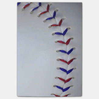 Red and Blue Baseball / Softball Stitches Post-it® Notes