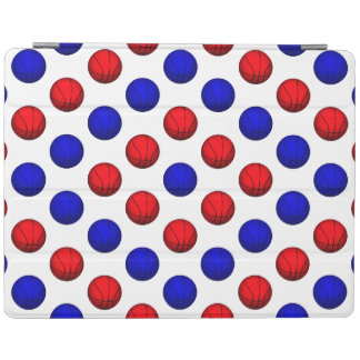 Red and Blue Basketball Pattern iPad Cover