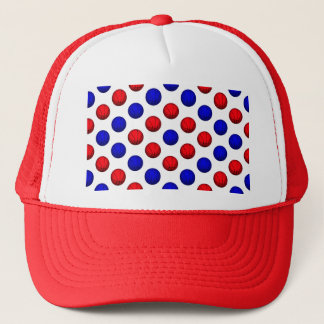Red and Blue Basketball Pattern Trucker Hat