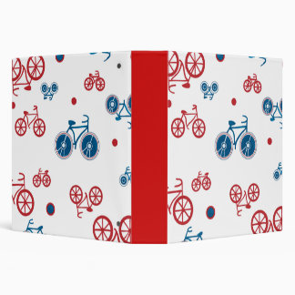 Red and Blue Bikes Binder