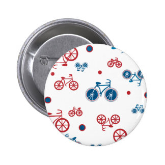 Red and Blue Bikes Pinback Button