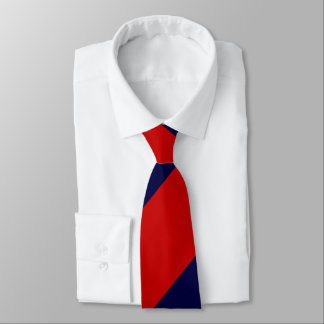 Red and Blue Broad Regimental Stripe Tie