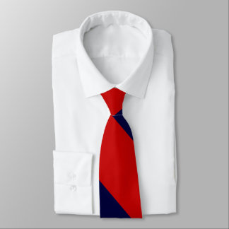 Red and Blue Broad University Stripe Tie