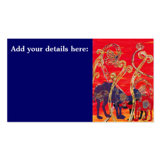 Red and Blue Camels Business Cards