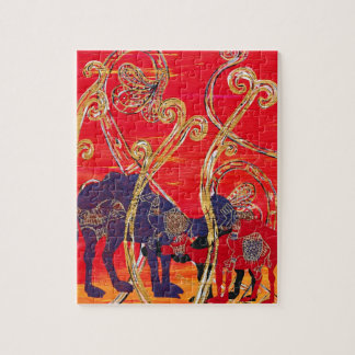 Red and Blue Camels puzzle