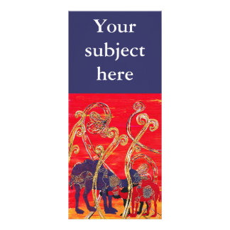 Red and Blue Camels Rack Cards