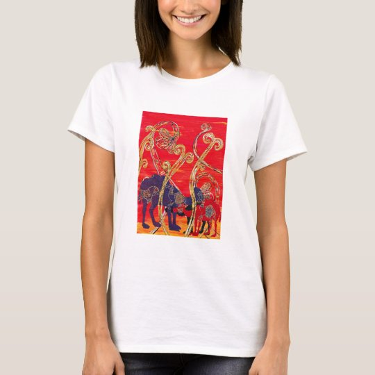 Red and Blue Camels T Shirt