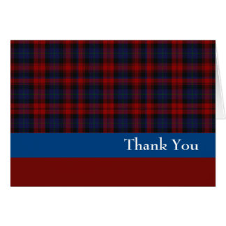 Red and Blue Clan MacLachlan Thank You Card