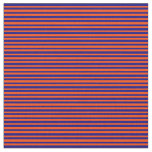 [ Thumbnail: Red and Blue Colored Stripes Pattern Fabric ]