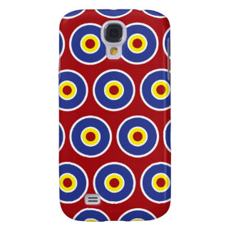Red and Blue Concentric Circles Bullseye Pattern Samsung Galaxy S4 Cover