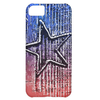 Red and Blue Cool Rustic Star Pop Art Print iPhone 5C Covers