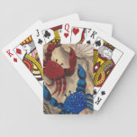 "Red and Blue Crab Playing Cards<br><div class=""desc"">The red and blue crab image was created using acrylic paint on a wooden panel.</div>"
