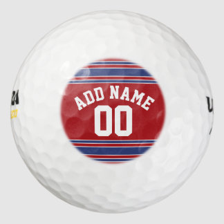 Red and Blue Custom Sports Jersey Pack Of Golf Balls