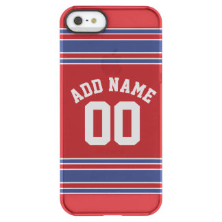 Red and Blue Custom Sports Jersey Uncommon Permafrost® Deflector iPhone 5 Case