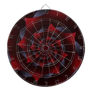 Red and Blue Dark Spiral Fractal Dart Board