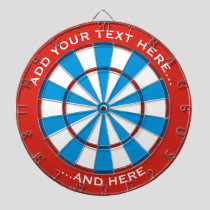 Red and Blue Dartboard with custom text