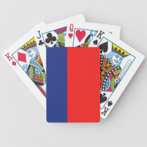 Red and Blue Demi-Stripe Bicycle Playing Cards
