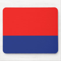 Red and Blue Demi-Stripe Mouse Pad