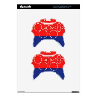 Red and Blue Demi-Stripe XBox 360 Controller Skin