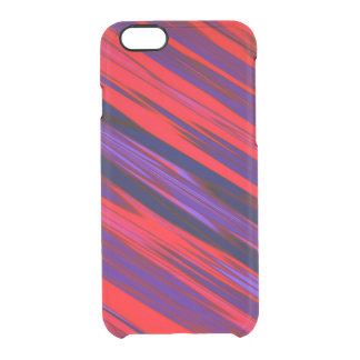 Red and Blue Diagonal Stripe Design Clear iPhone 6/6S Case