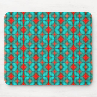 Red and Blue Diamond pattern Mouse Pad