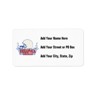 Red and Blue Football Hardcore Tshirts and Gifts Personalized Address Labels