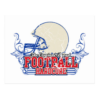 Red and Blue Football Hardcore Tshirts and Gifts Postcard