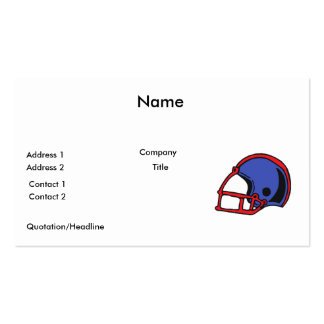red and blue football helmet graphic business card templates