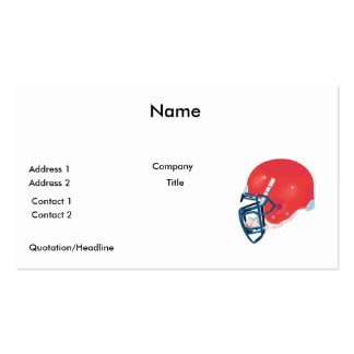 red and blue football helmet vector graphic business card