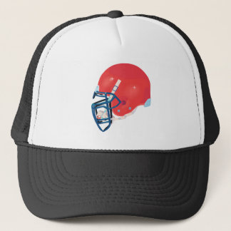 red and blue football helmet vector graphic trucker hat
