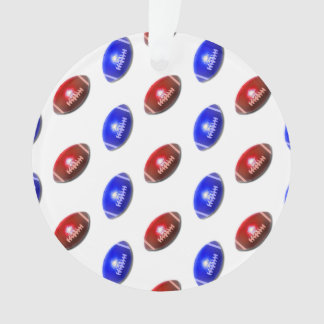 Red and Blue Football Pattern