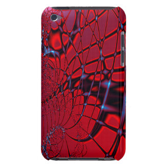 Red and Blue Fractal iPod Touch Case