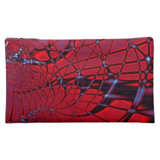 Red and Blue Fractal Makeup Bag