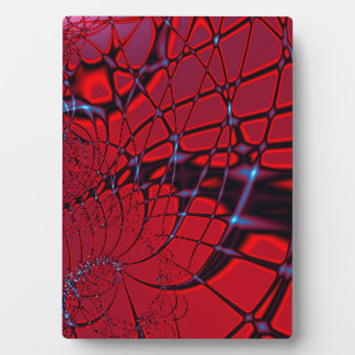 Red and Blue Fractal Plaque
