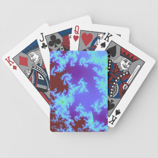 Red and blue fractal playing cards