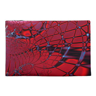 Red and Blue Fractal Travel Accessory Bag