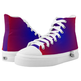 Red and Blue GAX Hi-Top
