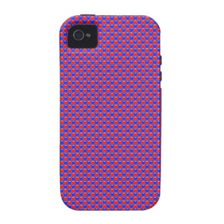 Red and Blue Glass Square Tiles Vibe iPhone 4 Case
