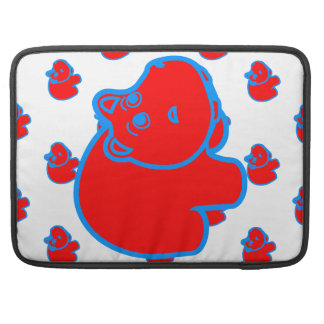 Red and Blue Hippo Sleeve For MacBook Pro
