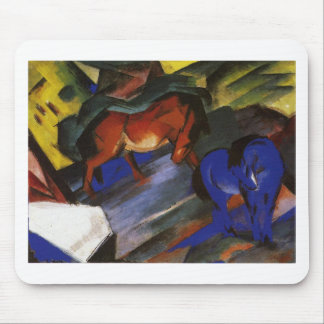 Red and Blue Horse by Franz Marc Mouse Pad